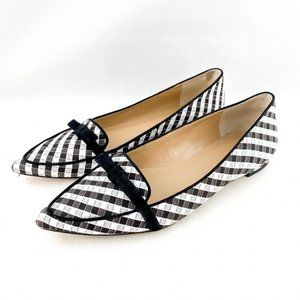 Ann Taylor Modern Plaid Patricia Bow Flats Career